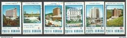 """Rumänien 4253-4258 """"6 Briefmarken Im Kpl. Satz Mit Bedeutenden Rumän. Gebäuden"""" Gestempelt Mi. 1,40 - Oblitérés"""