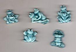 SERIE Complète 5 Fèves MH - Moulin à Huile- LE KAMA-SUTRA DES GRENOUILLES 2005 - Kamasutra Grenouille /frog - Animals