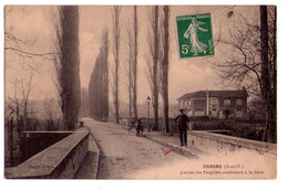D034 - Crosnes - S&O - Avenue Des Peupliers Conduisant à La Gare - Danton Tabac - Crosnes (Crosne)