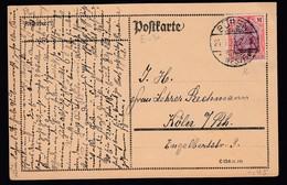 DR Infla Postkarte 1923 EF 198 Büren Nach Köln K192 - Deutschland