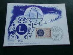 FRANCE (1967) LIONS INTERNATIONAL - Cartes-Maximum