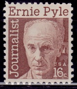United States,1972, Ernest Taylor Pyle - Jounalist, 16c, Sc#1398, MNH - Unused Stamps