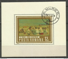 "Rumänien Bl.109 ""Gemälde: Welt Der Arbeit"" Gestempelt Mi.6,00 - Blocs-feuillets"