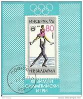 """Bulgarien Bl. 61  """"XII. Olympischen Spiele In Innsbruck '76"""""""" Gestempelt Michel : 2,50 - Gebraucht"""