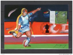 """(Faciale = 3 €) FRANCE 2007 : Carte Maximum """" COUPE DU MONDE DE RUGBY EN FRANCE / TIMBRE LENTICULAIRE """". N° YT 3909. CM - Rugby"""