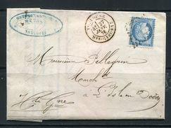 FRANCE- Lettre Du 27 Janvier 1872 De TOULOUSE (30) Pou L'ISLE EN DODON (30)- Y&T N°60C- GC 3982 - 1871-1875 Cérès
