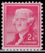 United States,1954-68, Liberty Issue, Thomas Jefferson, 2c, Sc#1033, MNH - Vereinigte Staaten