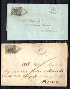 Etats De L'Eglise Deux Lettres Anciennes (1866 Et 1867). B/TB. A Saisir! - Papal States