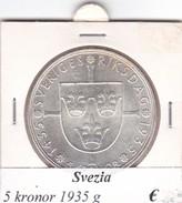 SVEZIA   5  KRONOR  ANNO 1935  COME DA FOTO - Svezia