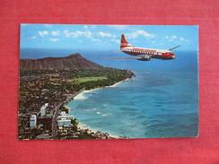 Hawaiian Airlines  Super Convair Over Diamond Head  1963 Cancel--     Ref 2758 - 1946-....: Era Moderna