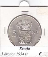 SVEZIA   5  KRONOR  ANNO 1954  COME DA FOTO - Svezia
