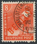 Stamps Berlin 1949 MI 23 8pf Red Overprint Set Used - Oblitérés