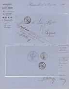 BITSCHWILLER 1861 T.D. Thann Belfort - Postmark Collection (Covers)