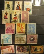 Spanien Mix Set Stamps Of Spain Espagne España Spagna Spanje Small Selection Of Fine Used 921 - 1961-70 Gebraucht