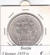 SVEZIA   5  KRONOR  ANNO 1959  COME DA FOTO - Svezia