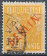 Stamps Berlin 1949 MI 27 25pf Red Overprint Set Used - Oblitérés