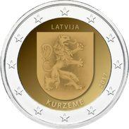 Pièce De 2 Euros Commémorative Lettonie 2017 : Kurtzeme - Lettonie