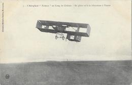 L'Aéroplane Farman Au Camp De Châlons, En Plein Vol à 60 Kms à L'heure - Librairie Militaire Guérin - Carte Non Circulée - ....-1914: Précurseurs