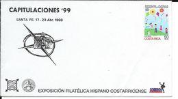CAPITULACIONES 99 AÑO 1999 COSTA RICA SOBRE ENTERO POSTAL ENTIER INTERO RARE EXPOSICION FILATELICA COSTARRICENSE - Costa Rica