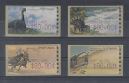 Portugal ATM Dinosaurier, 4 Motive  Druck Amiel,  Mi.-Nr. 24-27.2 Z2  - ATM/Frama Labels