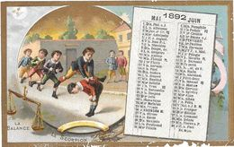 CALENDRIER 1892  Chromo Publicitaire CHICOREE D'ALSACE D.VOELCKER-COUMES à BAYON -SAUTE MOUTON -  Edit.ROMANET PARIS - Calendari