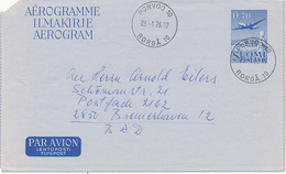 PORVOO - 1973 , Aerogramme Nach Bremerhaven - Airmail