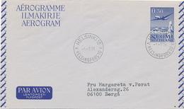 HELSINKI - 1971 , Aerogramme Nach Berga - Airmail