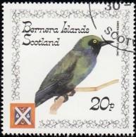 STAFFA (Bernera Islands) - SW947 Green Glossy Starling / Used Stamp - Non Classificati