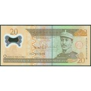 TWN - DOMINICAN REPUBLIC 182a - 20 Pesos Oro 2009 Polymer - Prefix AG - Signatures: Albizu & Bengoa UNC - Repubblica Dominicana
