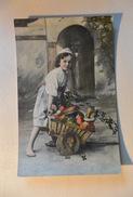 Bambino Con Carretto Pieno Di Funghi 1910 Child With Cart Full Of Mushrooms     ---01551-- - Scene & Paesaggi