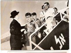 Photo Photographie Arrivée à Lydda Enfants Finaly Grand Rabbin Cohen 1953 Rossner Israël - Lieux