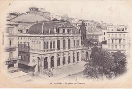 ALGERIE. ALGER. CPA. LA PLACE DU THÉÂTRE. ANNÉE 1904 - Algerien