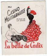 VP11.808 - Programme - Au Casino Montparnasse - La Belle De Cadix Avec Luis MARIANO - Programmes