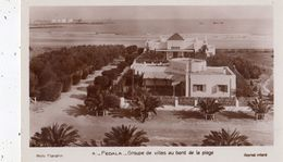 FEDALA GROUPE DE VILLAS AU BORD DE LA PLAGE  CARTE PHOTO - Maroc