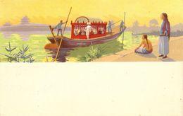 RED STAR LINE - Grote Gondel Aan Oever Van Water - Aziatisch Tafereel - Ontwerp Julien 't Felt - GEEN Vermelding R S L - Paquebots