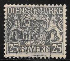 Bavaria, Scott # O15 Used Official, Coat Of Arms, 1916 - Bavaria