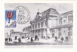 Carte-Maximum FRANCE N° Yvert PA45 (GARE D'ORLEANS) Obl Sp Ill 1er Jour Musée Postal (Ed PAC) - 1970-79