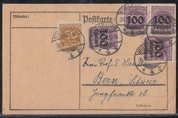 DR Karte Mif Minr.275,4x 289 Wiesbadeb 26.9.23 Gel. In Schweiz - Deutschland
