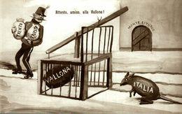 Guerre 14-18,  Carte Satirique   Italia - Italie - Italy - Italien - Patrióticos