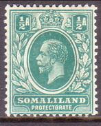 Somaliland Protectorate 1921 SG #73 ½a MLH Wmk Mult.Script CA - Somaliland (Protectorate ...-1959)