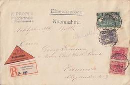 DR R-NN-Brief Mif Minr.2x 86II,101,116 Pfeddersheim 7.7.20 - Deutschland