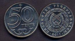 Kazakhstan 50 Tenge 2011 UNC < City KARAGANDA > Commemorative Coin - Kazakhstan