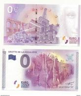 BILLET TOURISTIQUE ZERO EURO  GROTTE DE LA COQUALIERE GARD  NEUF SUPERBE - EURO