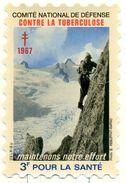 VIGNETTE - COMITÉ DE DÉFENSE CONTRE LA TUBERCULOSE 1967 - GRAND FORMAT - 3F POUR LA SANTÉ. - Commemorative Labels