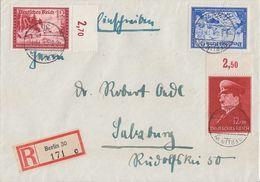 DR R-Brief Mif Minr.772OR, 775 OR, 777 Berlin 8.5.41 Gel. Nach Salzburg - Briefe U. Dokumente