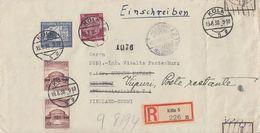 DR R-Brief Mif Minr.520,2x 668,669 Köln 19.8.38 Gel. Nach Finnland Devisenkontrolle - Briefe U. Dokumente
