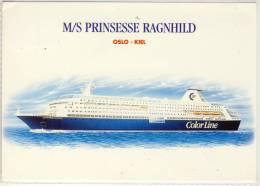 M/S PRINSESSE RAGNHILD OSLO - KIEL FERRY SHIP COLOR LINE NICE STAMP - Fähren