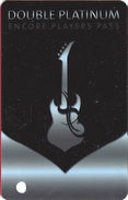 Hard Rock Casino - BIloxi, MS - BLANK Double Platinum Level Slot Card - Casino Cards