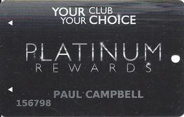 Pearl River Resort Casinos Choctaw, MS - Platinum Slot Card - 2 Logos On Reverse - Casino Cards