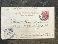 E19 Argentinien Argentina Argentine Ganzsache Stationery Entier Postal Psc Karte Von Buenos Aires Nach Naumburg/Saale - Postal Stationery